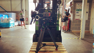 Rules of filming tele  #657. When in a factory, always put your camera on a fork lift truck for a tracking shot. @mikewilliamssound