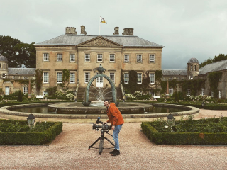 This time last week, shooting a top secret special coming next year. Beautiful location @dumfrieshouse Thanks for having us!